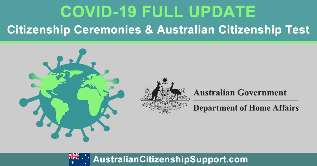 COVID-19 full update Australian Citizenship Test Citizenship Ceremonies